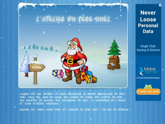 Site Pour Enfants Atelier Du Père Noël Vive Noel