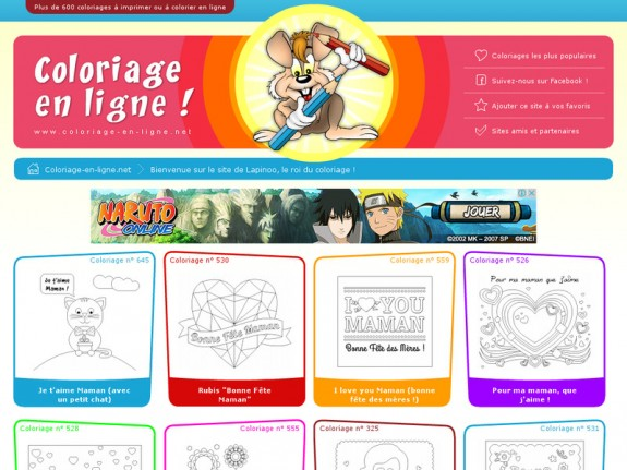 Site pour enfants coloriage en ligne net https - Coloriage en ligne enfant ...